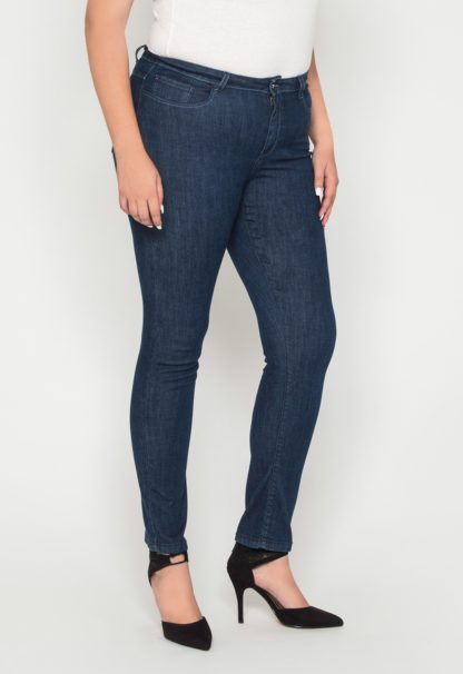 Jeans coupe slim taille haute stretch stone