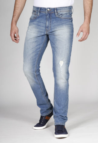 Jeans RL90 stretch super stone washed RESID Bleu clair