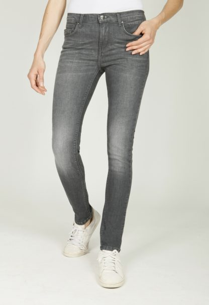 Jegging stretch gris taille haute EVORA