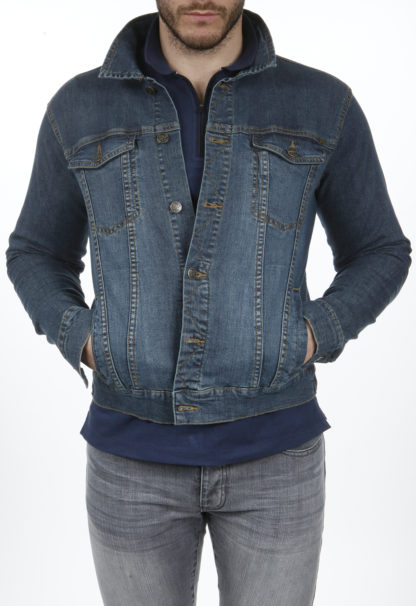Veste en jeans stretch coupe ajustée FAITH