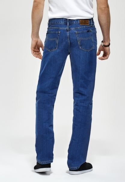 Jeans RL70 coupe droite coton stone washed