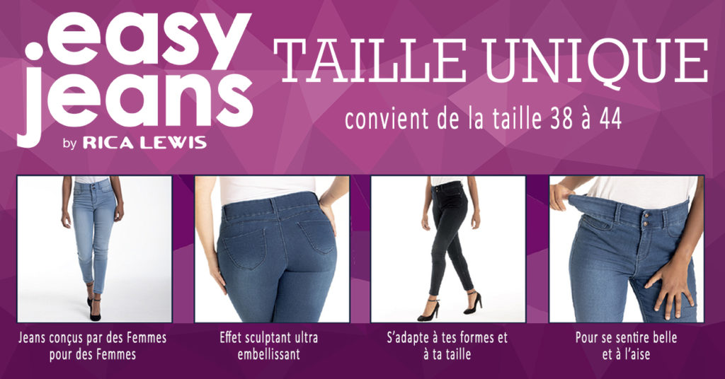 Easy Jeans by Rica Lewis, le jeans taille unique !